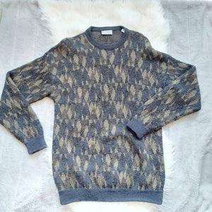 Vintage Alpaca sweater crew neck unisex